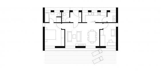 bungalow typ 2 mit 80 qm. Black Bedroom Furniture Sets. Home Design Ideas