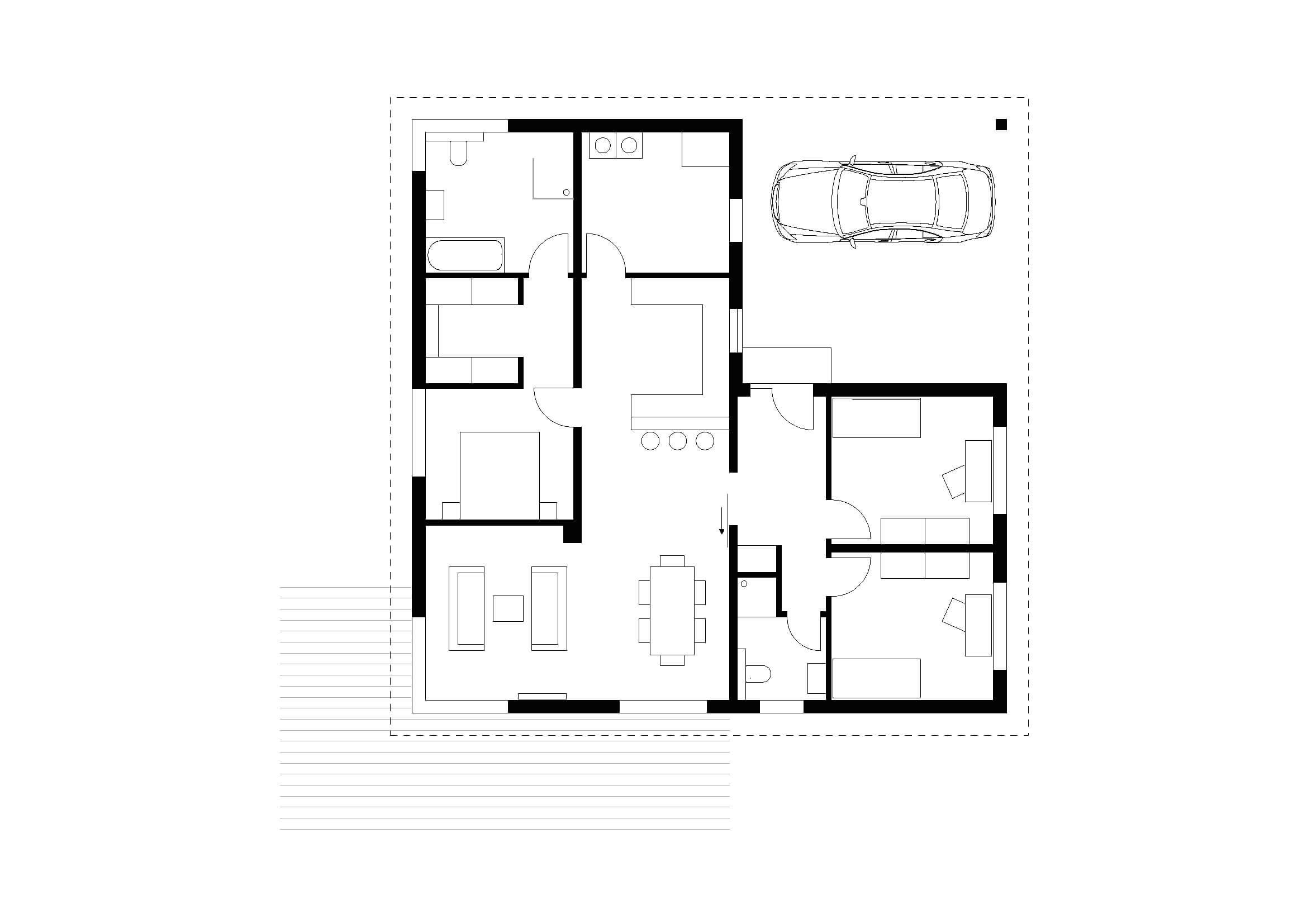 bungalow typ 3 mit 124 qm br uer architekten rostock. Black Bedroom Furniture Sets. Home Design Ideas