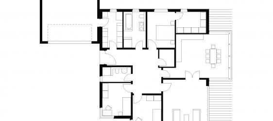 bungalow typ 4 mit 140 qm. Black Bedroom Furniture Sets. Home Design Ideas