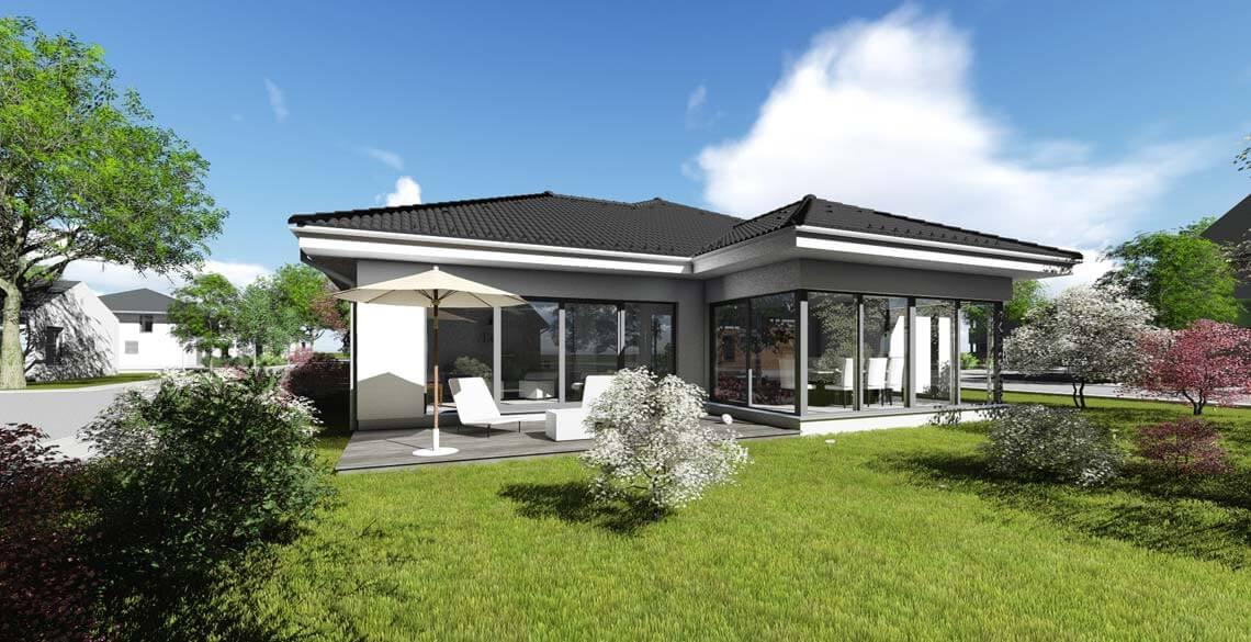 Bungalow typ 4 mit 140 qm for Architekten bungalow modern