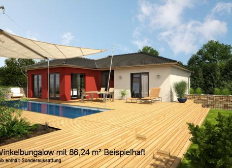 Bungalow als Winkelhaus - Klein aber fein - ca. 86,5 m² Wohnfläche nach DIN 277