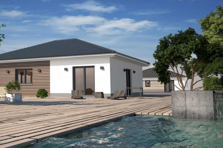 Bungalow mit 80 m²  - Kleines Raumwunder - Beispiel Holzverkleidung als Aufmusterung