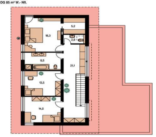 Cef modern 249 cmf creativ massiv flexibel hausbau gmbh for Grundriss luxushaus