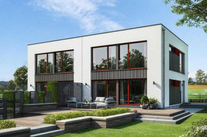 CELEBRATION 122 V6 L - Individuelles Doppelhaus mit lichtdurchflutetem Wohn-Essbereich