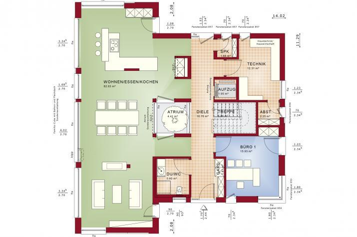 CONCEPT-M 210 Günzburg - Grundriss Erdgeschoss