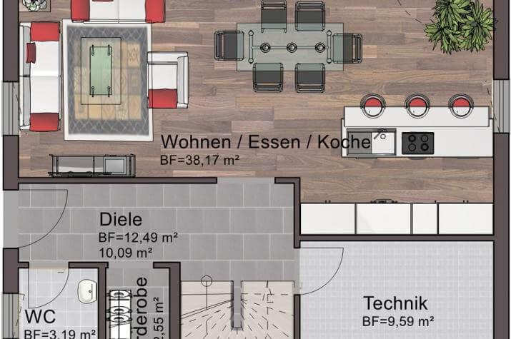 Classic Line 8 - Erdgeschoss