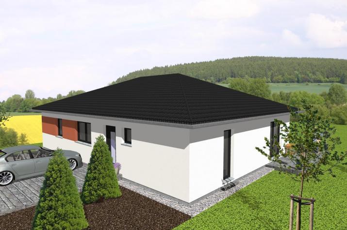 individuell geplant bungalow offenes wohnen auf einer ebene jk. Black Bedroom Furniture Sets. Home Design Ideas