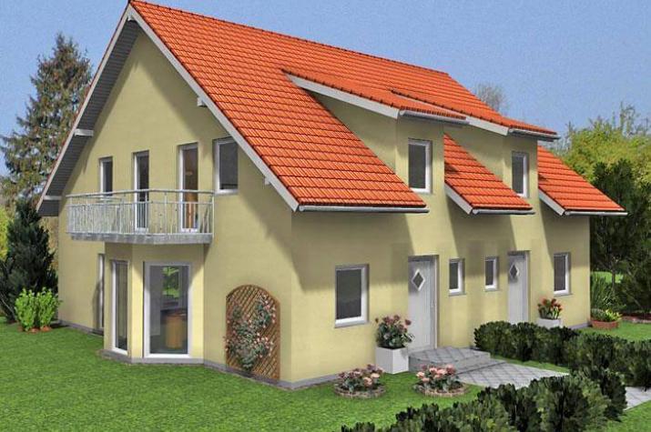 Doppelhaus duo 117 hauswerk gmbh for Doppelhaus oder zweifamilienhaus