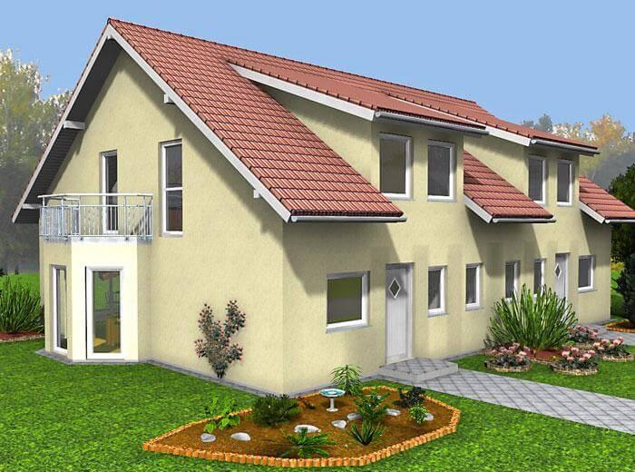Doppelhaus duo 131 hauswerk gmbh for Doppelhaus oder zweifamilienhaus