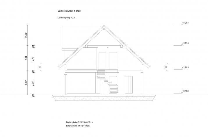 Doppelhaus Klassik 30.16 - Skizze Hausansicht