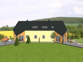 Doppelhaus mit markantem Spitzerker und Balkon - www.jk-traumhaus.de