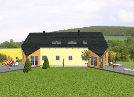 Doppelhaus Doppelhaus mit markantem Spitzerker und Balkon - www.jk-traumhaus.de