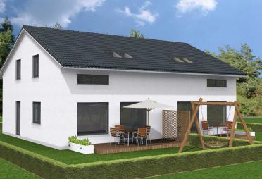 doppelhaus bis euro bis 150 m fertighaus. Black Bedroom Furniture Sets. Home Design Ideas