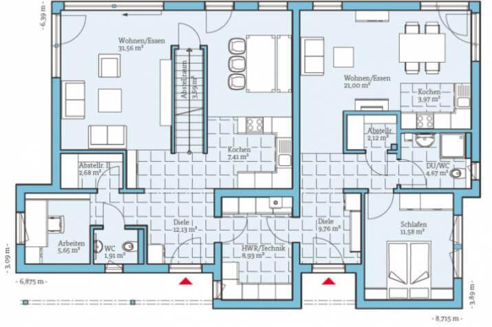 Duo 211 - Erdgeschoss