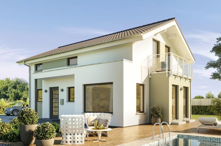 EDITION 123 V4 - EDITION 123 V4 – Modernes Traumhaus mit großen Fensterflächen, Panorama-Erker und Balkon