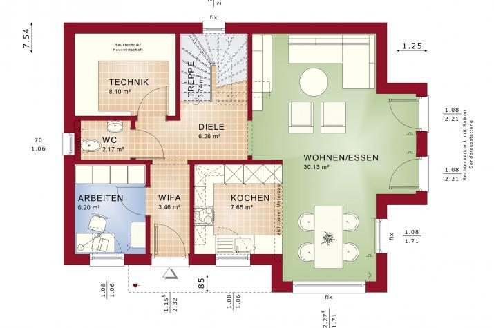 EDITION 123 V4 - EDITION 123 V4 – Grundriss Erdgeschoss