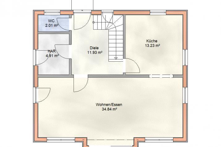 EFH-147-SD F.01 - Erdgeschoss