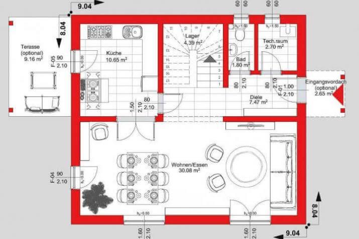 easy 01 energiesparhaus kfw 70 in 90 tagen bezugsfertig. Black Bedroom Furniture Sets. Home Design Ideas