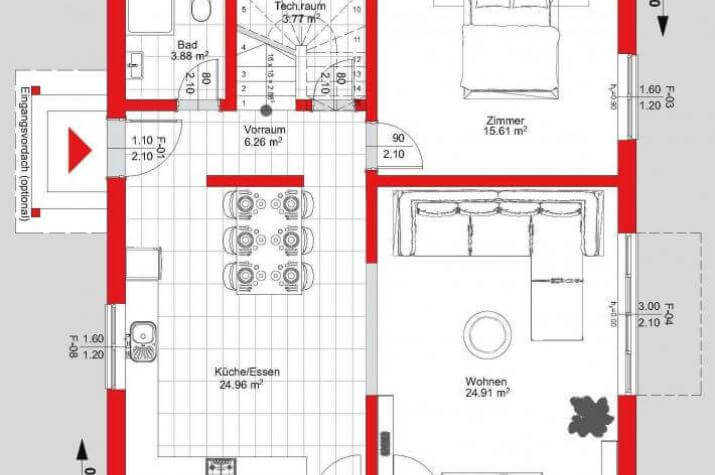 easy 07 stadtvilla kfw 55 easy energiesparhaus. Black Bedroom Furniture Sets. Home Design Ideas