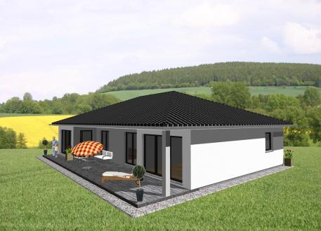 Bungalow Ebenerdiges Wohnen mit ansprechendem Grundriss - Charakter - www.jk-traumhaus.de