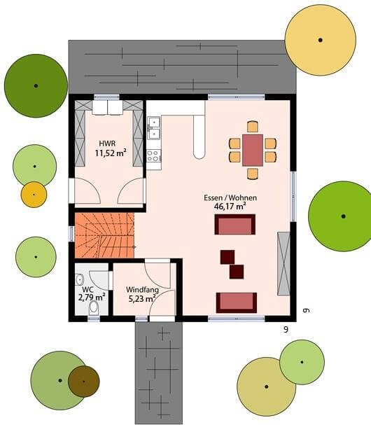 einfamilienhaus massive bauweise arthausbau. Black Bedroom Furniture Sets. Home Design Ideas