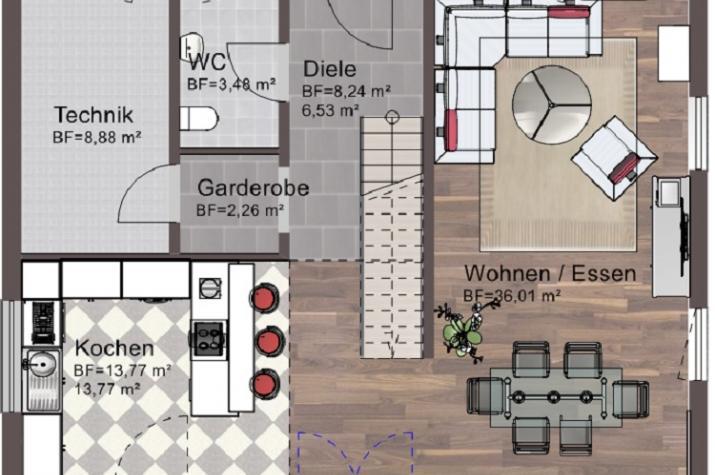 Einfamilienhaus 146 - 190 - Erdgeschoss
