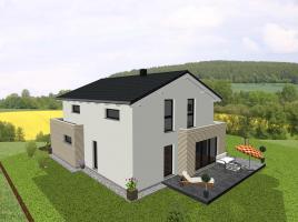 Einfamilienhaus kombiniert mit Flachdachanbauten - www.jk-traumhaus.de