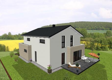 Frei planbare Häuser Einfamilienhaus kombiniert mit Flachdachanbauten - www.jk-traumhaus.de