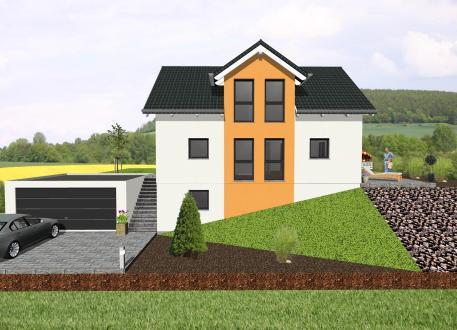 Sonstige Häuser Einfamilienhaus mit Zwerchgiebel für Hanglage- www.jk-traumhaus.de