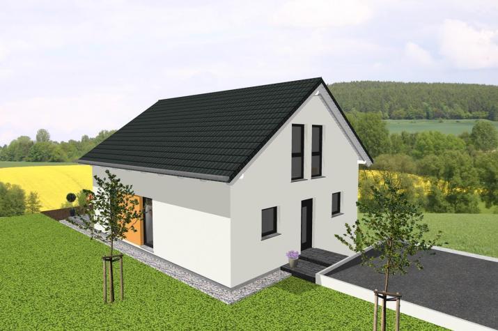 einfamilienhaus mit zwerchgiebel f r hanglage. Black Bedroom Furniture Sets. Home Design Ideas