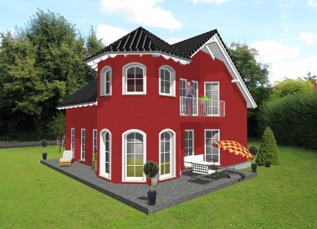 Einfamilienhaus mit romantischem Türmchen - www.jk-traumhaus.de