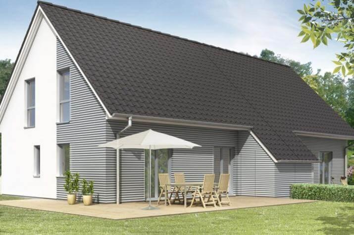 Family Doppelhaus - Außenansicht Variante