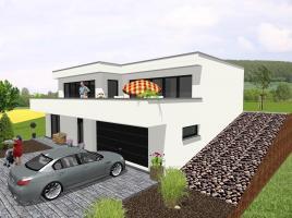 Flachdach-Bungalow für Hanglage - www.jk-traumhaus.de