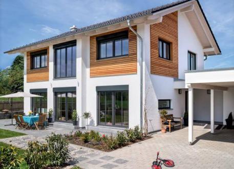Moderne häuser satteldach  ᐅ Einfamilienhaus bauen | 923 Einfamilienhäuser mit Grundrissen u ...