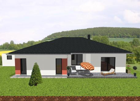 Großzügiger Bungalow in U-Form mit Loggia - www.jk-traumhaus.de