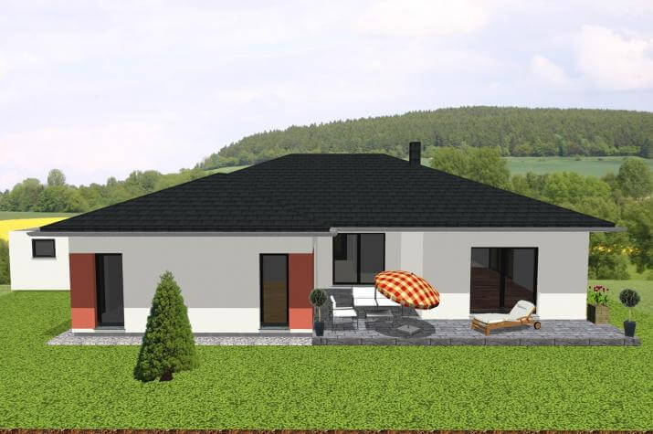 Jk Traumhaus ᐅ großzügiger bungalow in u form mit loggia jk traumhaus de