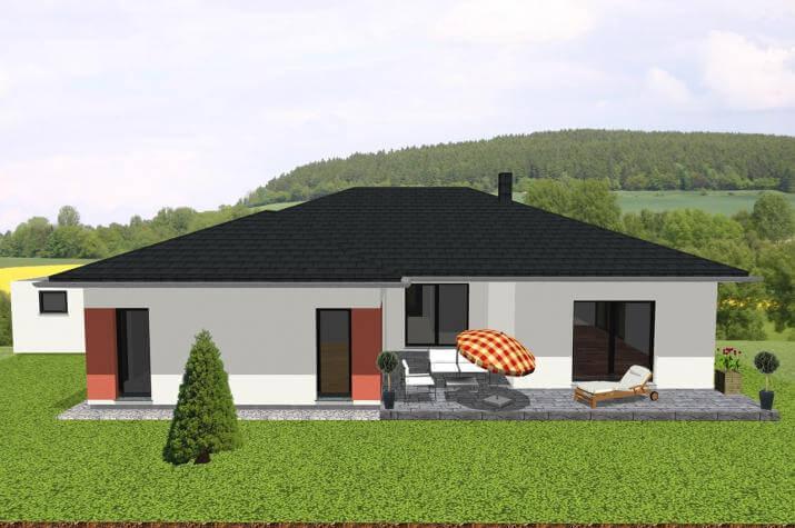 Großzügiger Bungalow in U-Form mit Loggia - www.jk-traumhaus.de -