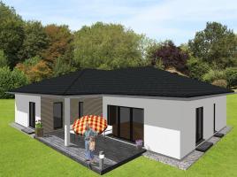 Großzügiger Winkelbungalow mit integrierter Garage - www.jk-traumhaus.de