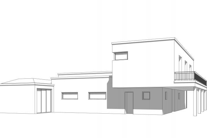Haus Adagio - Ansicht der Rückseite des Gebäudes