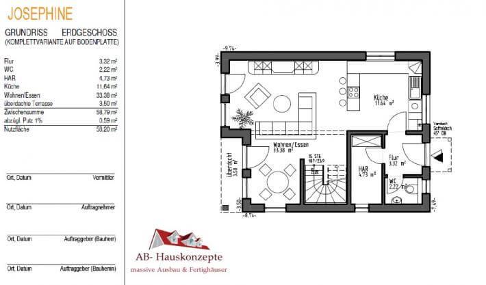 haus josephine ab hauskonzepte. Black Bedroom Furniture Sets. Home Design Ideas