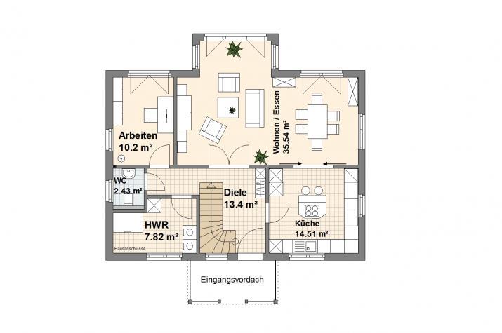 Haus Wittmund - Wittmund Grundriss Erdgeschoss