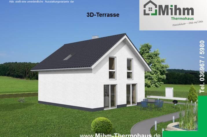 Idealo 120 SD - Terrassenansicht mit Wandansicht zum Carportanbau