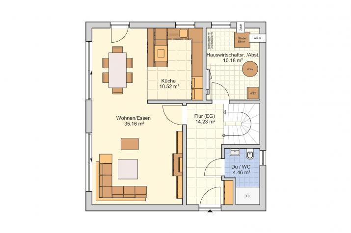 Juna - Energieeffizienz trifft moderne Architektur - Erdgeschoss