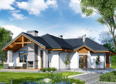 Fertighaus bungalow design auch als winkelbungalow for Fertighaus amerikanischer stil