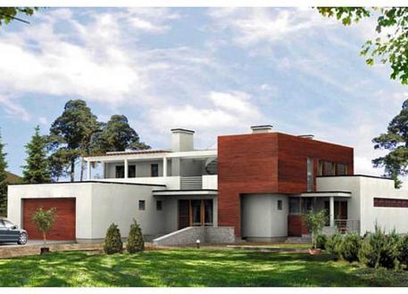 H user bauen einfamilienhaus auch mit for Haus mit doppelgarage bauen