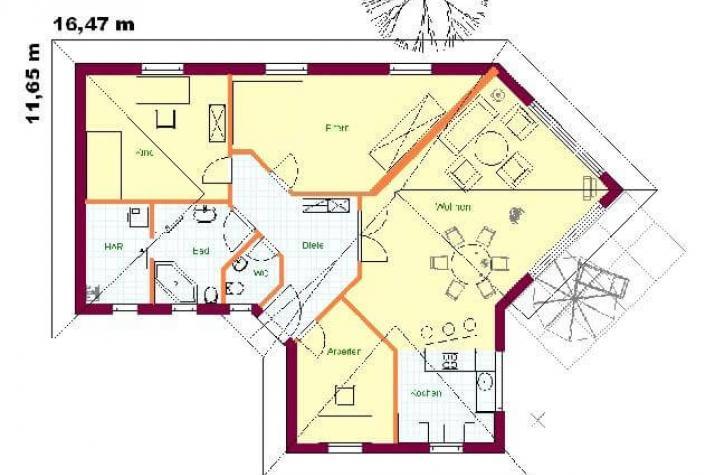 karow bungalow. Black Bedroom Furniture Sets. Home Design Ideas