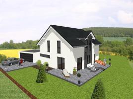 Klassisches Einfamilienhaus mit Satteldachgaube -  www.jk-traumhaus.de