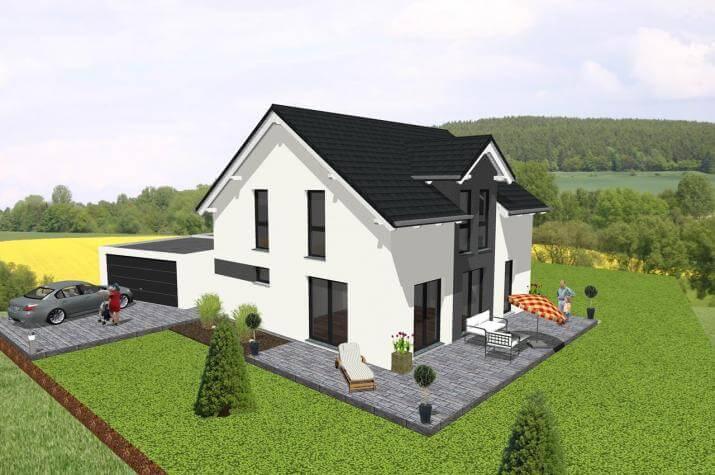 Klassisches Einfamilienhaus mit Satteldachgaube -  www.jk-traumhaus.de -
