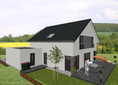 Designerhaus Klassisches Einfamilienhaus mit interessanten Details - www.jk-traumhaus.de