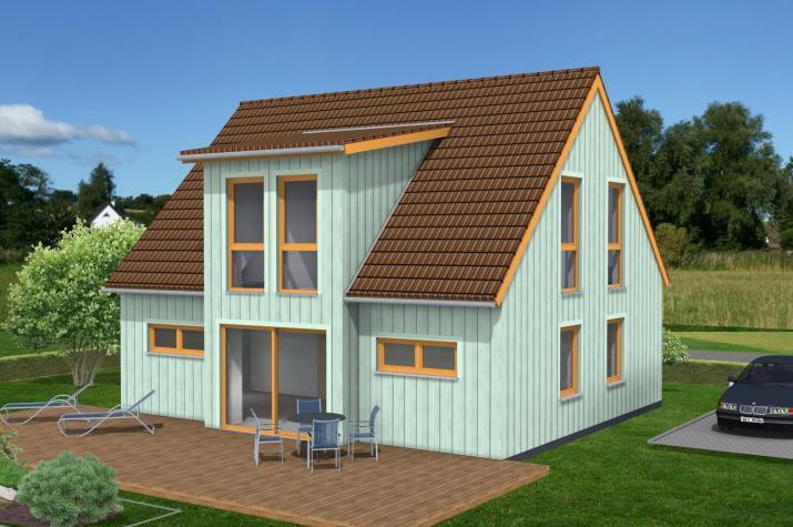 Klein und fein im Schwedenhausstil - Mit Holzverbundhaus zum eigenen Haus - Hausansicht